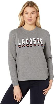 Lacoste Long Sleeve Brushed Fleece Logo Sweatshirt