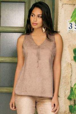 Soft Surroundings Sierra Ultra Suede Tank