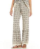 Chelsea & Violet Elephant Print Pant
