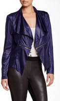 Insight Cracked Faux Leather Zip Jacket