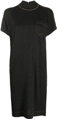Brunello Cucinelli knitted T-shirt dress