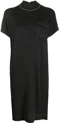 Brunello Cucinelli knitted T-shirt dress