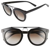 MCM Women's 49Mm Round Sunglasses - Black