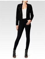 Paige Claris Jacket - Black Suede