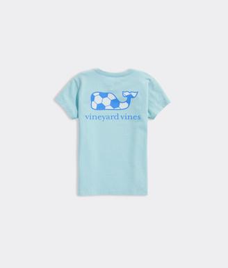 Vineyard Vines Girls Soccer Whale Short-Sleeve Pocket Tee