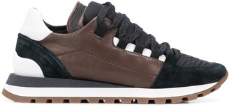 Brunello Cucinelli Ripstop-Panel Low Top Trainers