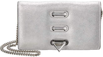 Salar Milano Trini Lame Leather Clutch
