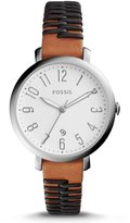 Fossil Jacqueline Analog & Date Leather-Strap Watch