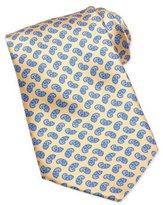 Stefano Ricci Neat Paisley Pattern Silk Tie, Yellow