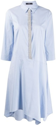 Steffen Schraut glitter trim shirt dress