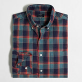 J.Crew Factory Heathered cotton plaid shirt