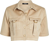 Balmain Cropped Military Button Down Shirt