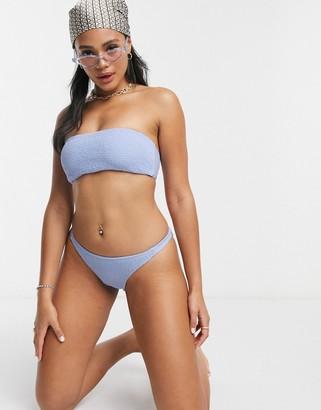 Hollister co-ord cheeky bikini bottom in lilac