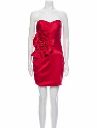 Jovani Silk Mini Dress Red