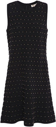 MICHAEL Michael Kors Fluted Studded Stretch-knit Dress