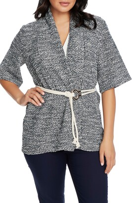 Chaus Marled Belted Cardigan