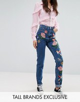 Glamorous Tall Embroidered Mom Jean