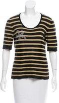 Sonia Rykiel Embellished Striped Top