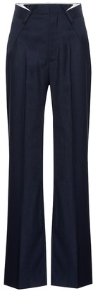 Maison Margiela Wool-blend wide-leg pants