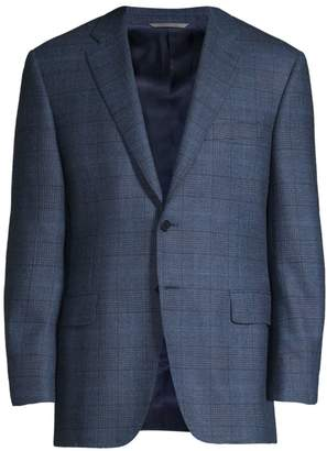 Canali Glen Check Wool, Cashmere & Alpaca Single-Breasted Jacket