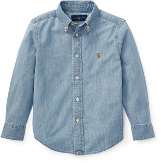 Ralph Lauren Kids Woven Chambray Shirt, Size 2-3