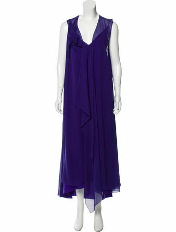 Lanvin Silk Draped Gown w/ Tags Violet
