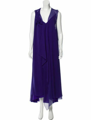 Lanvin Silk Draped Gown w/ Tags Violet