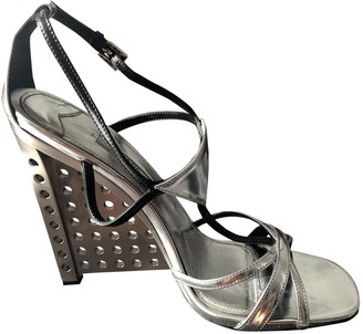 Prada Silver Patent leather Sandals