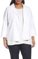 Lafayette 148 New York Plus Size Women's Phillipe Textured Jacket