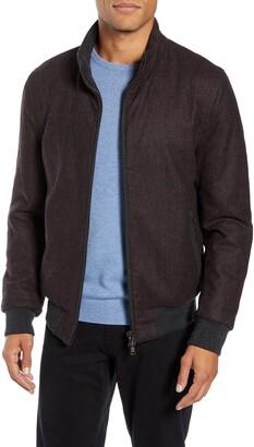 Zachary Prell Palmer Wool Blend Bomber Jacket