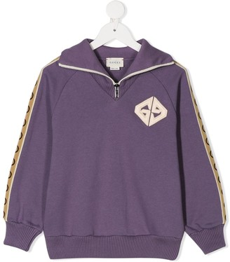 Gucci Kids Interlocking G zipped sweatshirt