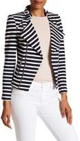 Insight Striped French Terry Moto Jacket
