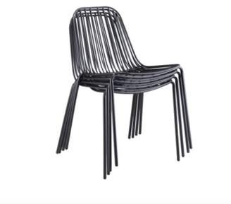 M.A.D. Furniture Resonate Stacking Patio Dining Chair m.a.d. Furniture Frame Color: Black