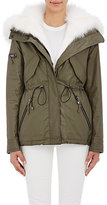 SAM. Women's Fur-Lined Hooded Jacket-DARK GREEN
