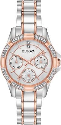 Bulova Women's Quartz Crystal Bracelet Watch, 32mm
