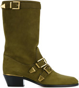 Chloé buckled boots - women - Leather - 35.5