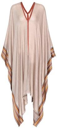 Loro Piana The Suitcase Stripe silk-blend poncho