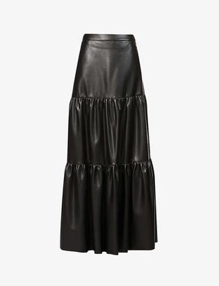 Pinko Sfavillante faux-leather maxi skirt