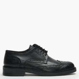Roman Rock Black Leather Lace Up Brogues