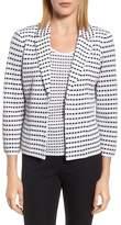 Ming Wang Jacquard Knit Blazer