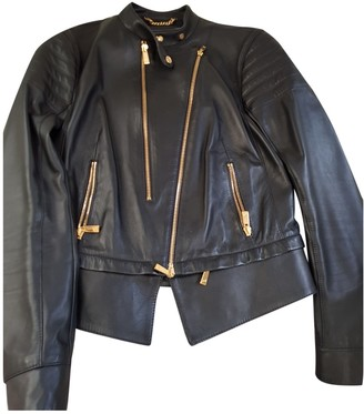 Porsche Design Black Leather Jacket for Women