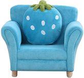 OliandOla Kids Deluxe Strawberry Armchair, Blue
