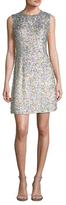 Jenny Packham Silk Sequin Flared Dress