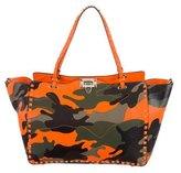 Valentino Medium Camouflage Rockstud Tote w/ Tags