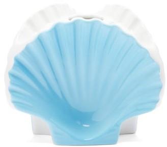 Richard Ginori Shell Ceramic Vase - Blue