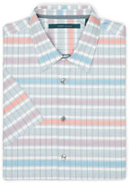 Perry Ellis Big and Tall Short Sleeve Colorful Stripe Shirt