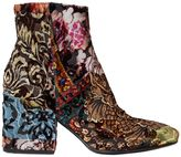 Strategia 70mm Brocade Velvet Ankle Boots