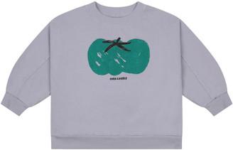 Bobo Choses Grey Sweatshirt For Kids With Tomato