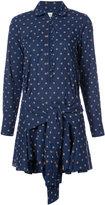 Derek Lam 10 Crosby printed mini shirt dress - women - Cotton - 0