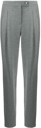 Giorgio Armani Chevron Straight-Leg Trousers